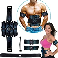 eAnjoy EMS Pads, ABS Stimulator Muscle Toner, Abdominal Toning Belt Muscle Trainer, Portable Fitness Trainer for Abdomen…