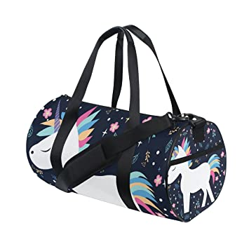 jstel hermoso unicornio bolsa de deporte gimnasio para hombres y mujeres bolsa de viaje de viaje
