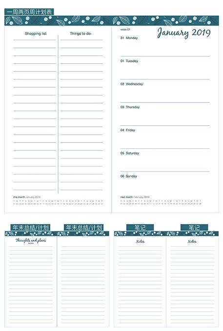 NTCY Cuaderno 2019 Agenda Tabla Programación 256 Páginas ...