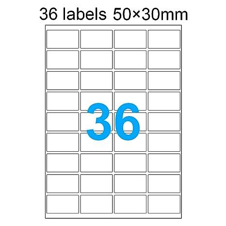 DASKOO Lot de 100 autocollants autocollants pour imprimante laser /à jet dencre 297 x 210 mm A4
