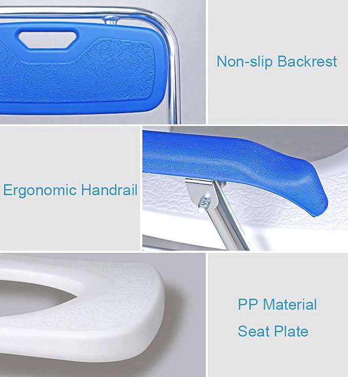 Silla WC Inodoro Plegable - Baño Asiento de Inodoro para Adultos ...