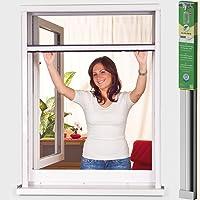 easy life GreenLine Basic PVC insectenwerend rolgordijn voor ramen, vliegengaas, individueel in te korten raamrolgordijn…