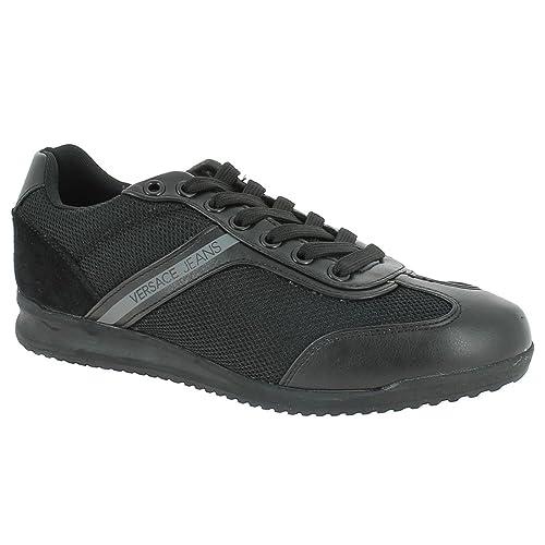 Versace Jeans Wing Cap Hombre Zapatillas Negro: Amazon.es: Zapatos y complementos