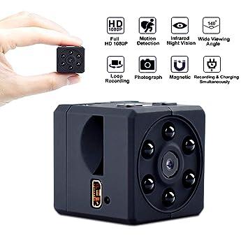 BITSW Portátil 1080P Full HD Mini Cámara Espía Oculto Infrarojos Visión Nocturna Nanny CAM Grabadora de