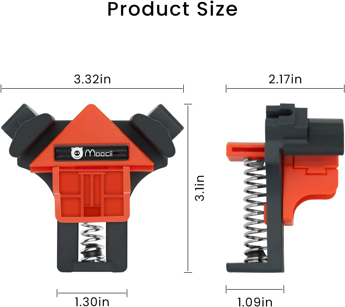 Moocii Corner Clamps for Woodworking 90 Degree Cabinet Tools Adjustable Angle Clamp Set of 4 Multifunctional Carpenter Tools for Making Picture Frames Drawers Box
