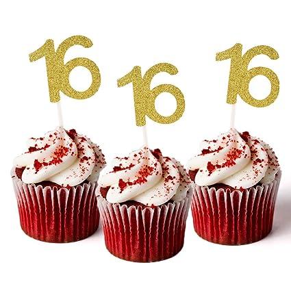 Amazon.com: HZOnline - Decoración para cupcakes (16 ...