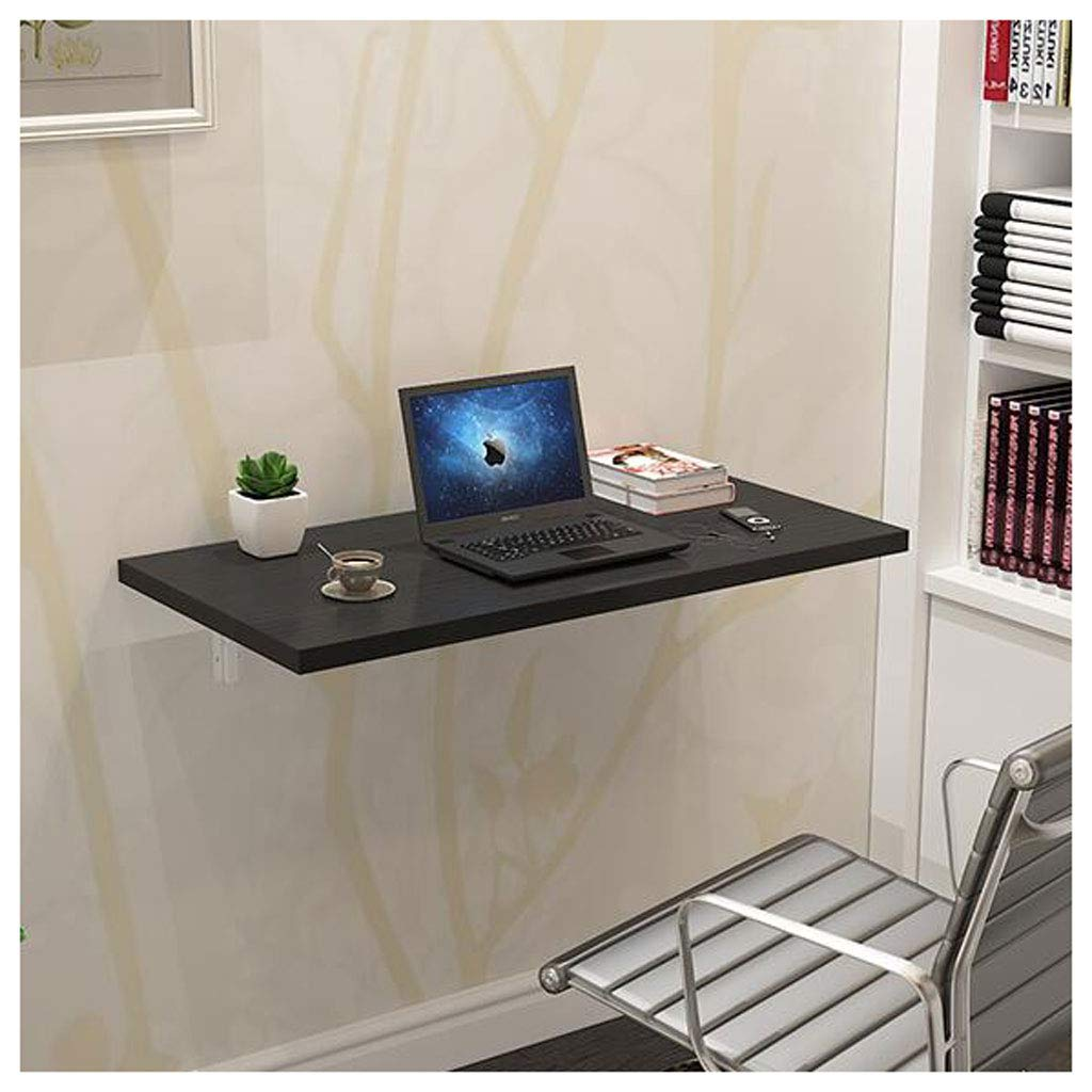 Black 8040cm Wall Table Wall Drop Sheet Table Folding Dining Space Saver Folding Desk Foldable Modern (color   White, Size   70  50cm)