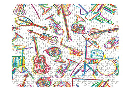 Style in Print Music Musical Instrument Pattern Jigsaw Puzzle Print 110 Pieces - Jigsaw Pattern