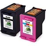 JARBO Remanufactured HP 301 XL Ink Cartridges (1 Black,1 Tri-colour) Compatible with HP Deskjet 1000 1010 1050 2000 2050 2540 HP Envy 4500 4502 4504 4505 4507 5530 5532 5534 HP Officejet 2620 2622 2624 4630 4632 4636