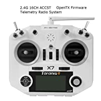 Frsky Taranis Q X7 Transmisor 16 Canales ACCST RC Transmitter Compatibile Frsky Receptor Adecuado Para FPV Racing RC Drone Quadcopter by LITEBEE ( White )