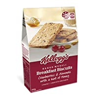 Kellogg's Breakfast Biscuits Cranberries & Almonds, 200 Grams, 5 Pack