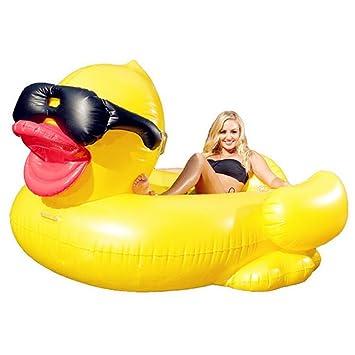 Hochwertige Pool Float Schwimmendes Bett Aufblasbare Große Gelbe