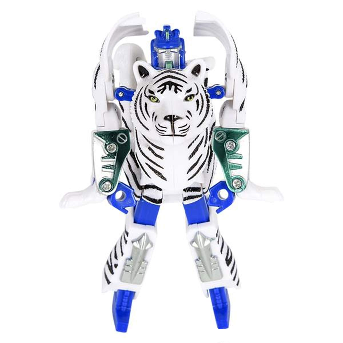 Transforming Action Figure Great Gift for Both Girls and Boys Forest /& Twelfth White Tiger 4 Animal Toys White Tiger Changes from a Detailed Animal Toy to a Unique Robot Toy in Seconds