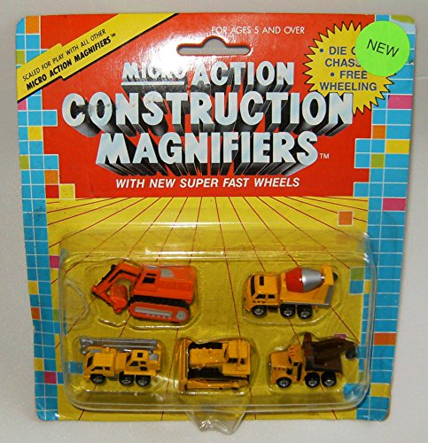 Micro Action Construction Magnifiers Collection #2 (Die Cast Cabover compare prices)