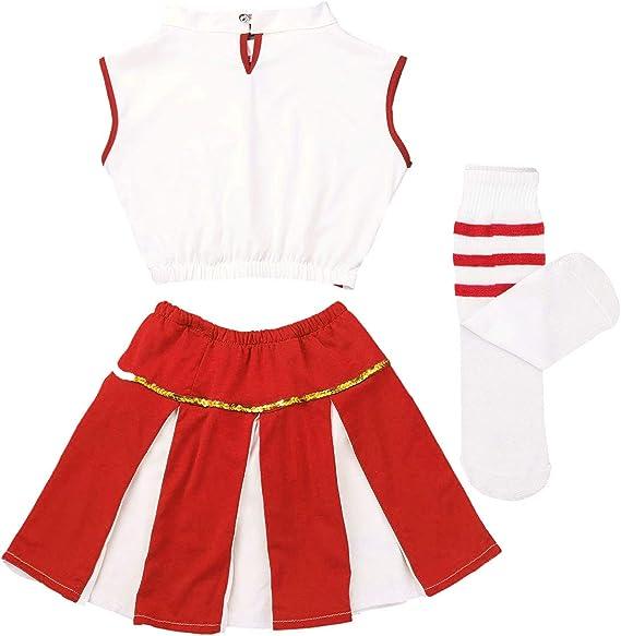 Dancewear Cheerleading Ice Skate racer back crop skort scrunchie Girls cheer practice set 910 YL