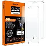 **Spigen® **2 Pack** Protection écran iPhone 7, en Verre Trempé, **Easy-Install Kit** [Extreme Résistant aux rayures] *Ultra Claire* protection verre trempé iPhone 7, Protection iPhone 7 / 6s / 6