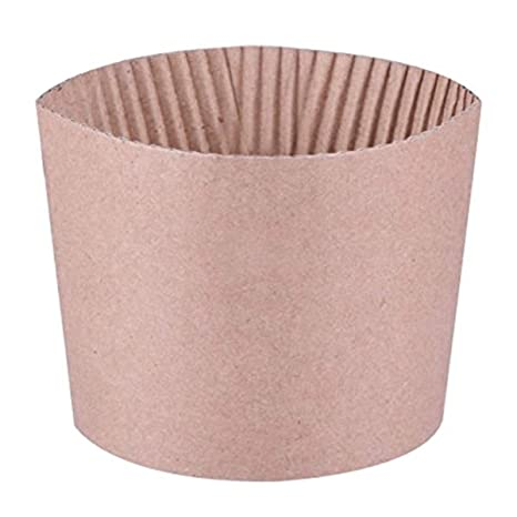 Luckypack 500 Piece Cup Sleeve Corrugated Jacket Cafe Drink Disposable  Paper Coffee Cup Sleeves Reusable Holder Cardboard For Hot Drinks, 12  oz /16