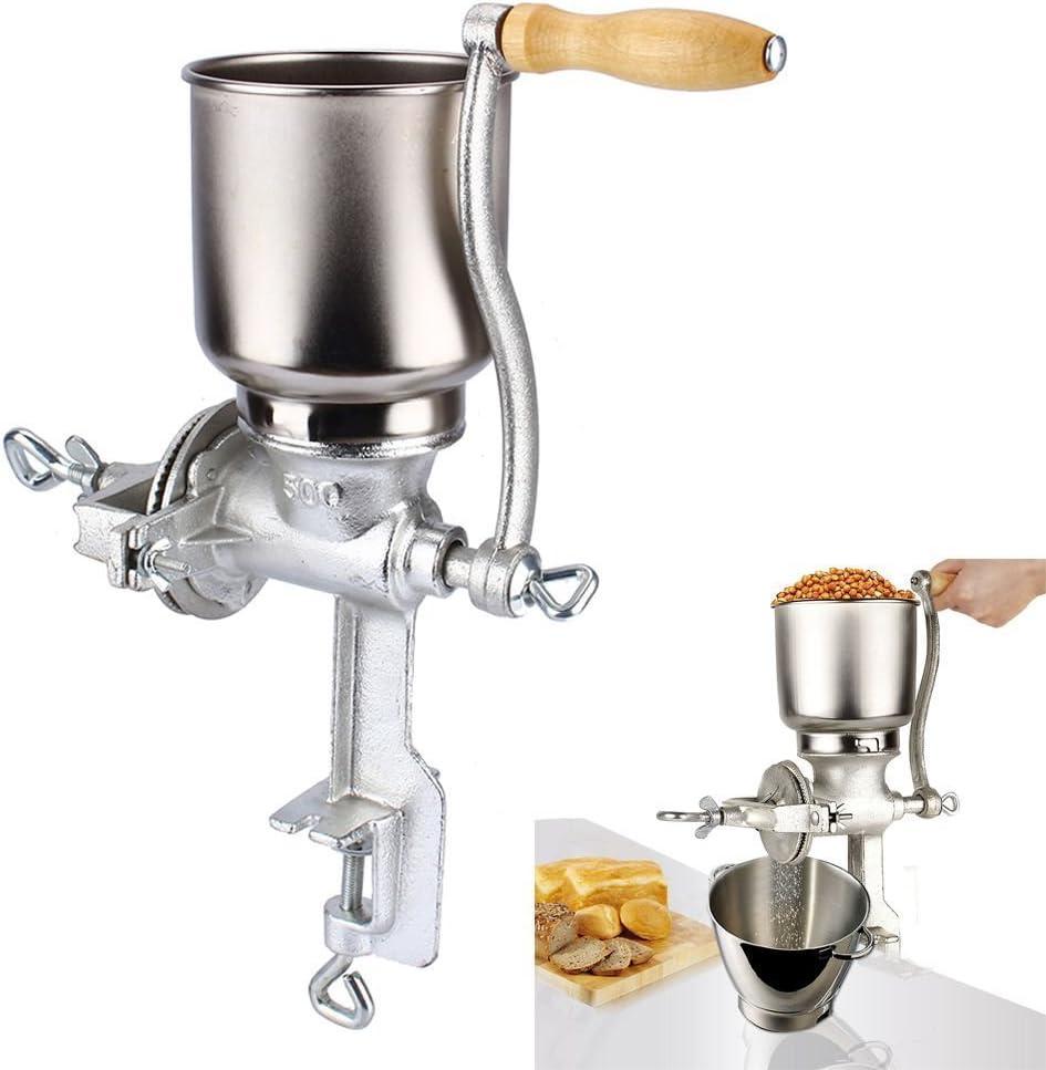Molinillo de cereales manual, licuadora de mesa, para cereales, granos y semillas.: Amazon.es: Hogar