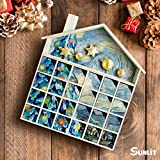 Sunlit Classical Wooden Advent Calendar with