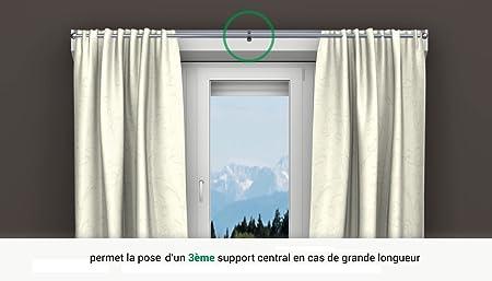 2 Supports Sans Perçage Geko Pour Tringle à Rideaux Diamètre