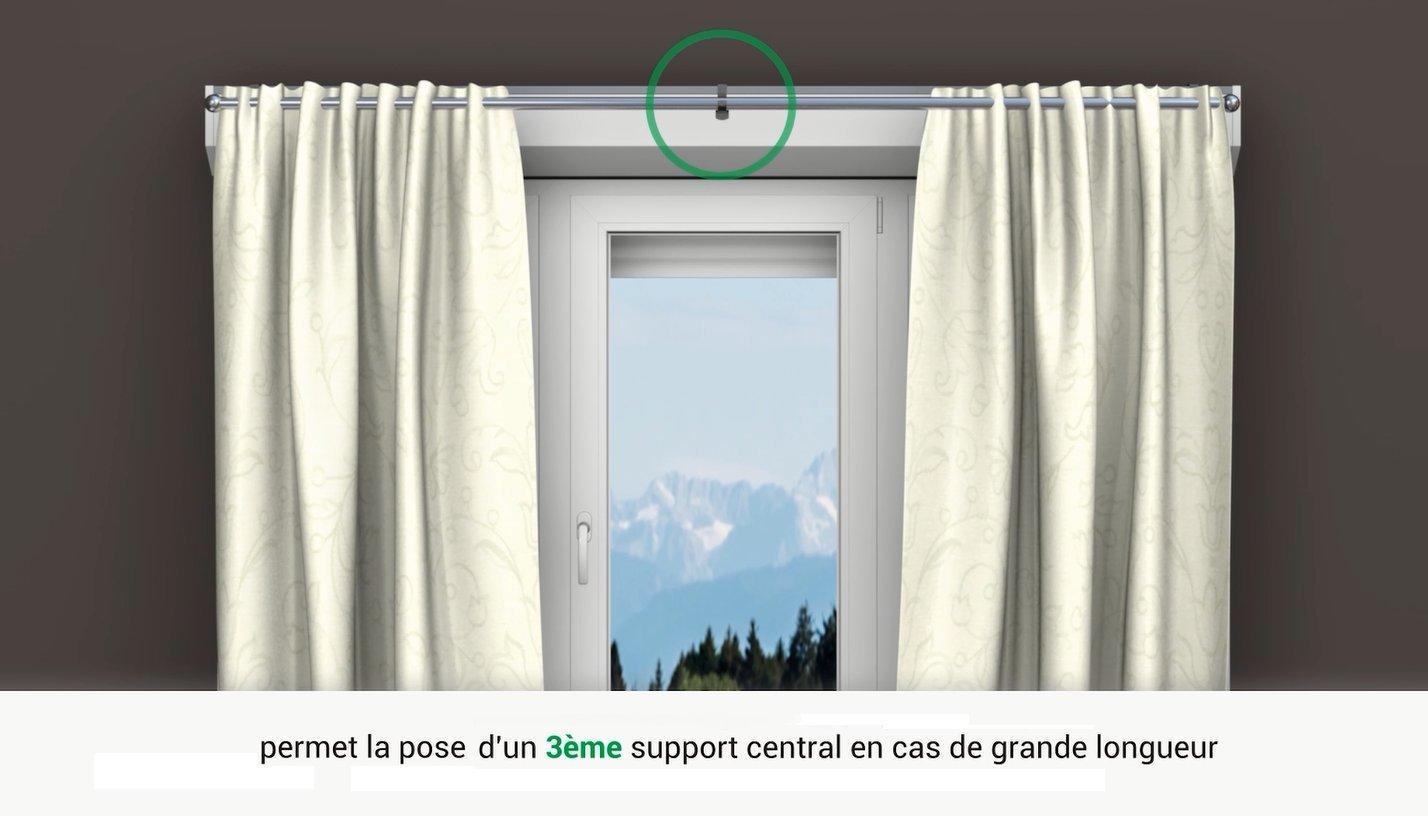 Tende Per Finestra Con Cassonetto : Geko supporto per tende senza foratura diametro 20 mm per
