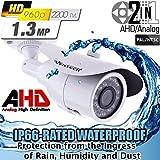 Ventech 1.3mp CCTV Surveillance Bullet Security Camera AHD Super CMOS image sensor 1/3 4mm Lens Weatherproof Outdoor OSD Cable 2 in 1 CAMAHD
