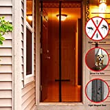 Magnets Screen Doors,Yabmi Mesh Curtain Comes With Velcro or Pins Closes Automatically-Keeps Bugs & Mosquitoes Out,Lets Fresh Air In( Fits Door Up To 36 x 82 Inch)