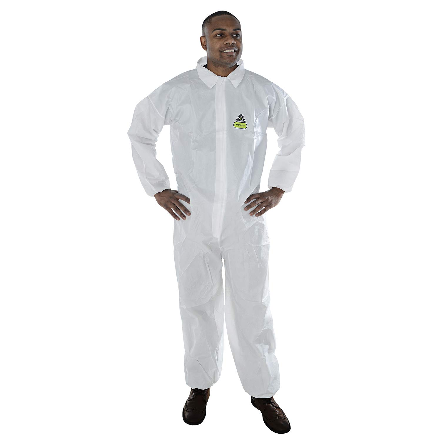 Cordova Safety Products MP2002XL 25 Piece Defender II Standard Microporous Disposable Coveralls with Elastic Wrists & Ankles, XX-Large, White
