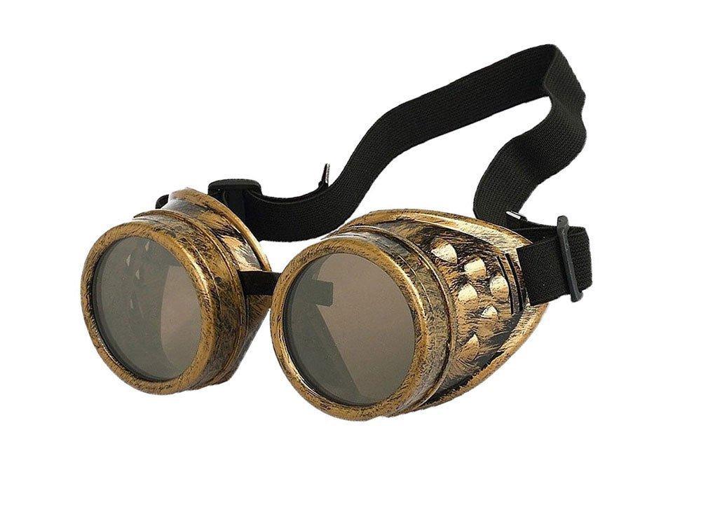 Vzer 4pcs Retro Vintage Victorian Steampunk Goggles Glasses Welding Cyber Punk Gothic Cosplay