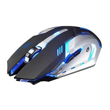 Akemiao ratón para portátil sin Hilos DE 2.4 GHz para el Ordenador portátil del PC con USB Reino Unido para Mac Lenovo rotación óptica: Amazon.es: ...