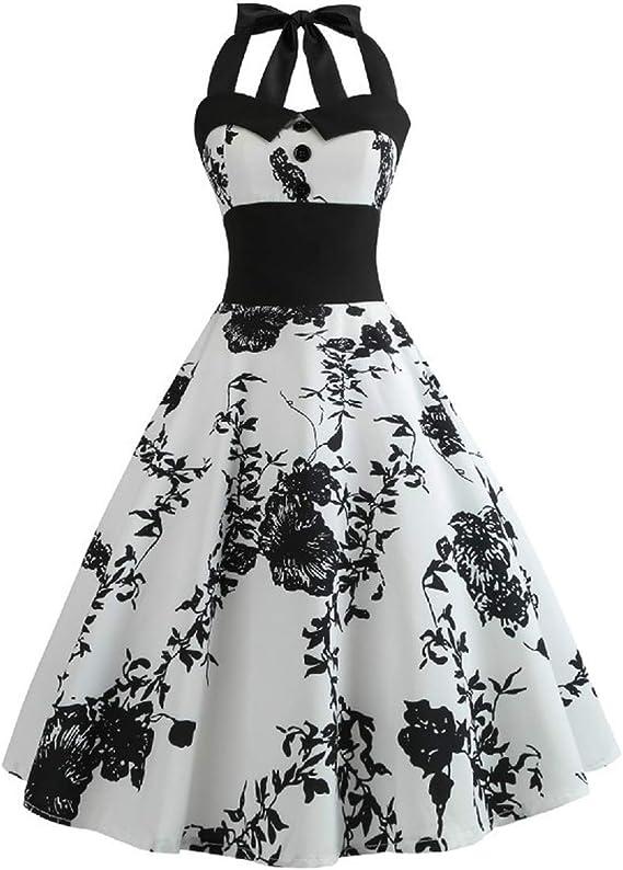 Laigedanzi Summer Dress 2019 Casual Floral Retro Vintage Dress Women Robe Rockabilly Swing Pinup Vestido Amazon Ca Clothing Accessories
