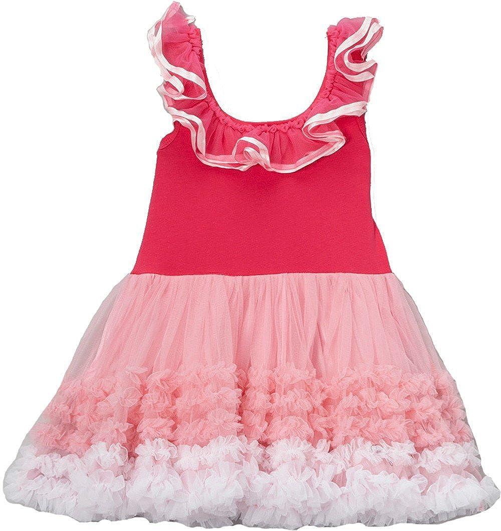6707c81082f8e Amazon.com: wenchoice Girl's Hot Pink Ruffle Babydoll Dress: Clothing
