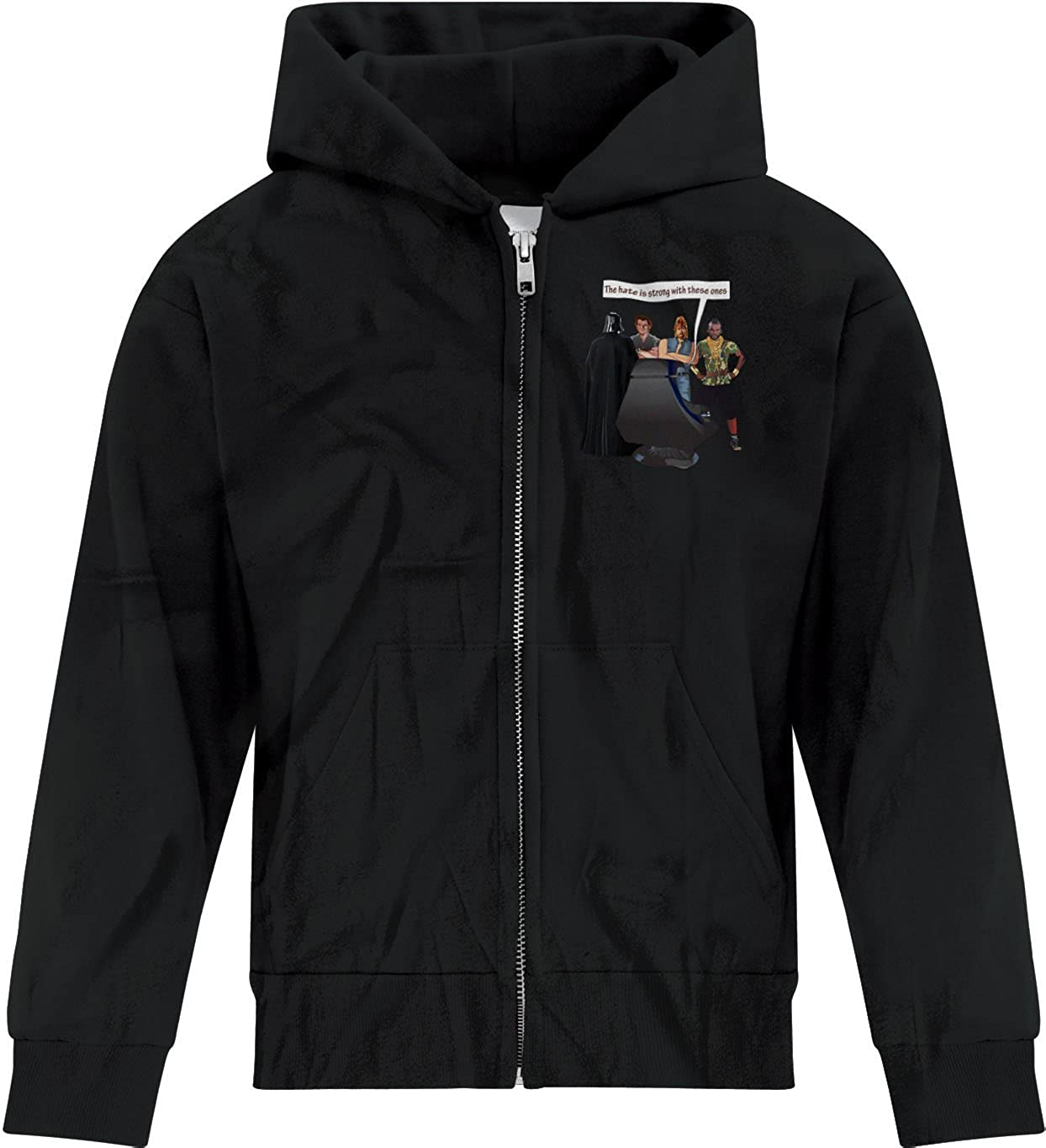 BSW Youth Boys The Hate is Strong Sidious Norris Vader Star Wars Zip Hoodie