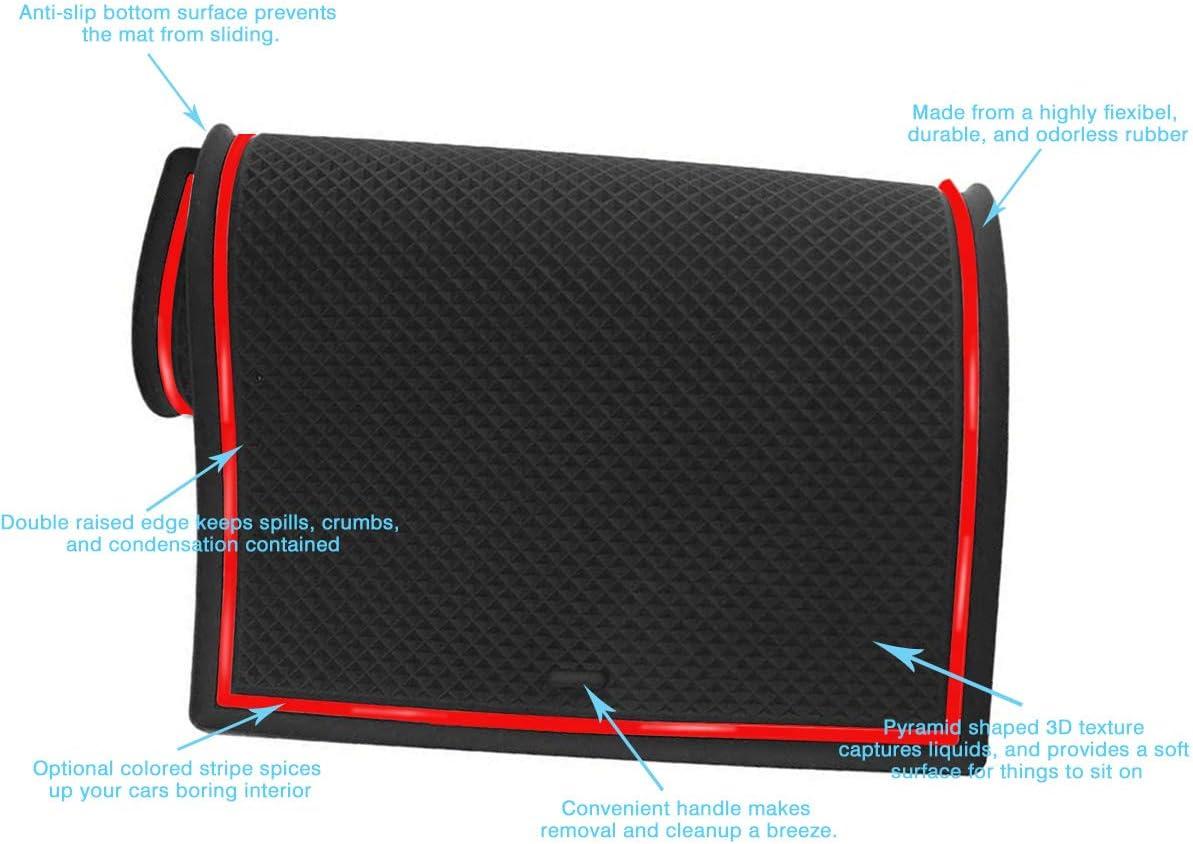Red Center Console Cup Holder Interior Liner Anti-Slip Liner Mats for Tesla 2017 2018 2019 Model 3 Door Mats Accessories