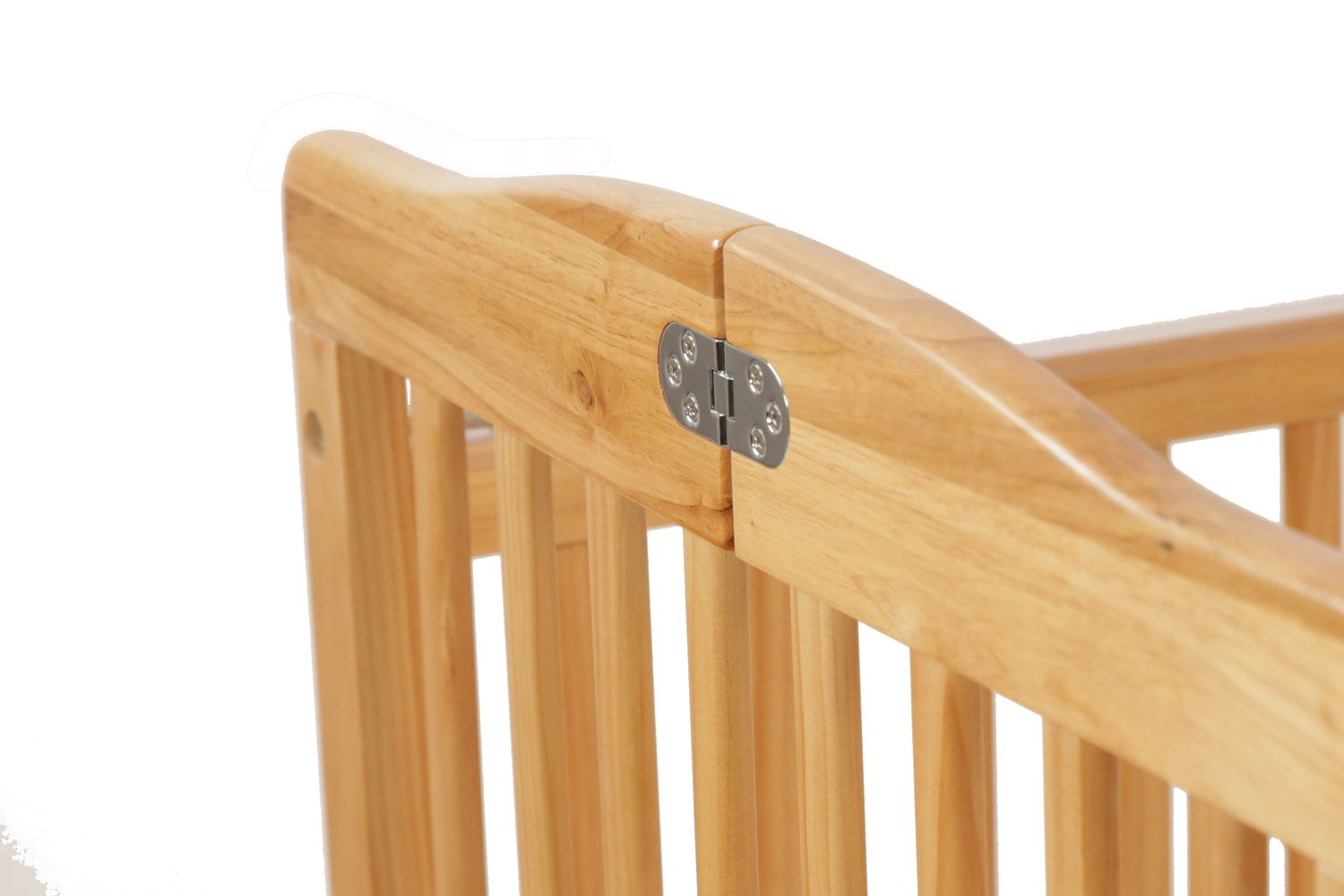 LA Baby The Full Size Wood Folding Crib, Natural