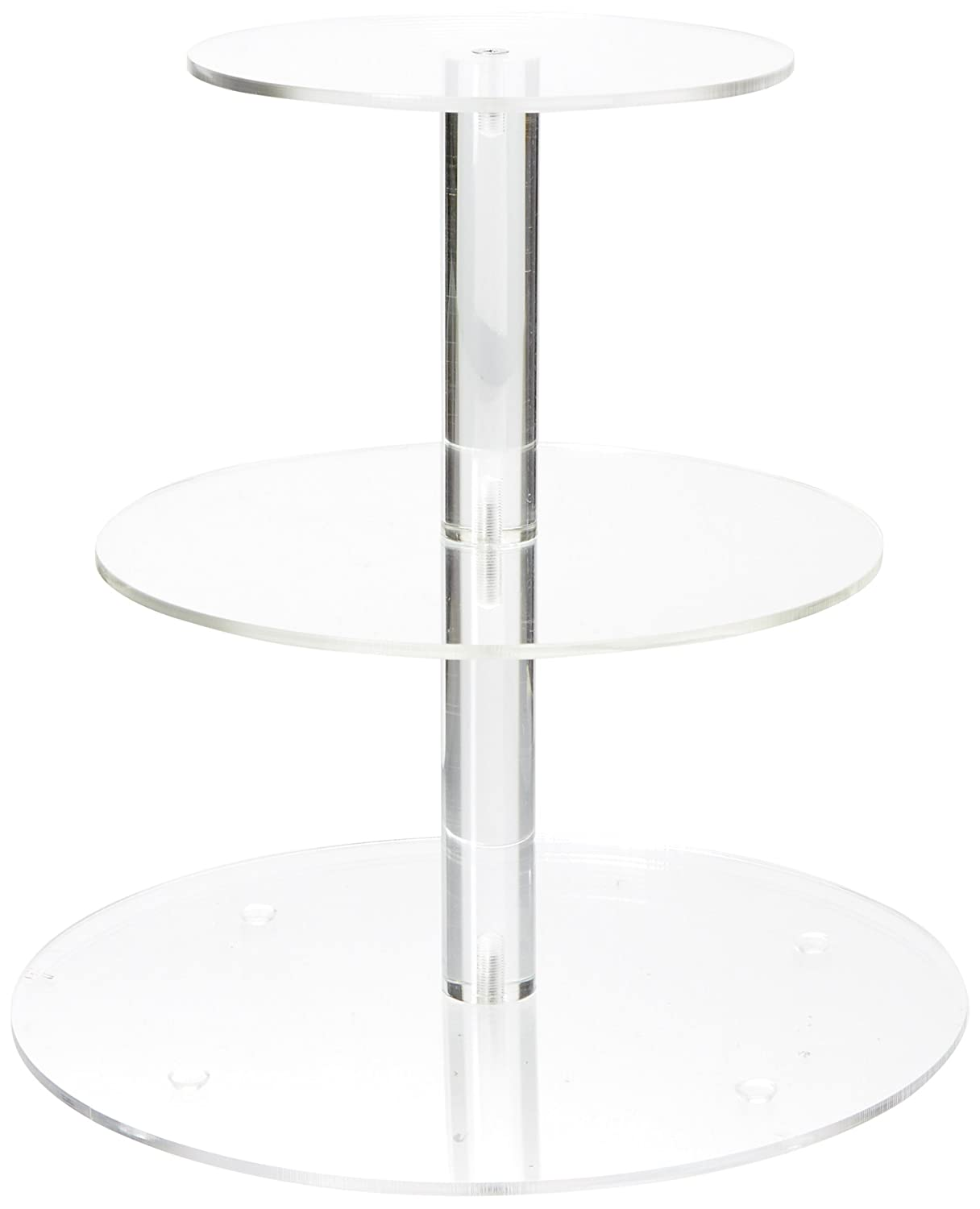 YestBuy 3 Tiers Round Party Wedding Birthday Clear Tree Tower Acrylic Cupcake Stand (8.7 Inches)
