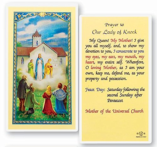 Prayer to Our Lady of Knock Queen of Ireland Laminated Prayer Card Blessed By Pope Francis (Knock Prayer Card)