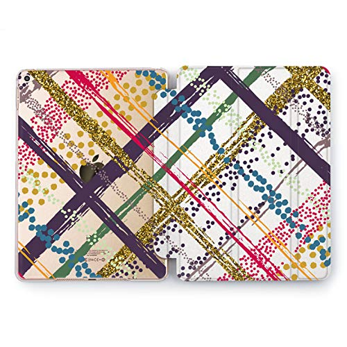 Brushstroke Stripe - Wonder Wild Color Cross iPad Case 9.7 Pro inch Mini 1 2 3 4 Air 2 10.5 12.9 2018 2017 Design 5th 6th Gen Clear Print Smart Hard Cover Order Colorful Lines Dots Stripes Brushstroke Daub Abstraction