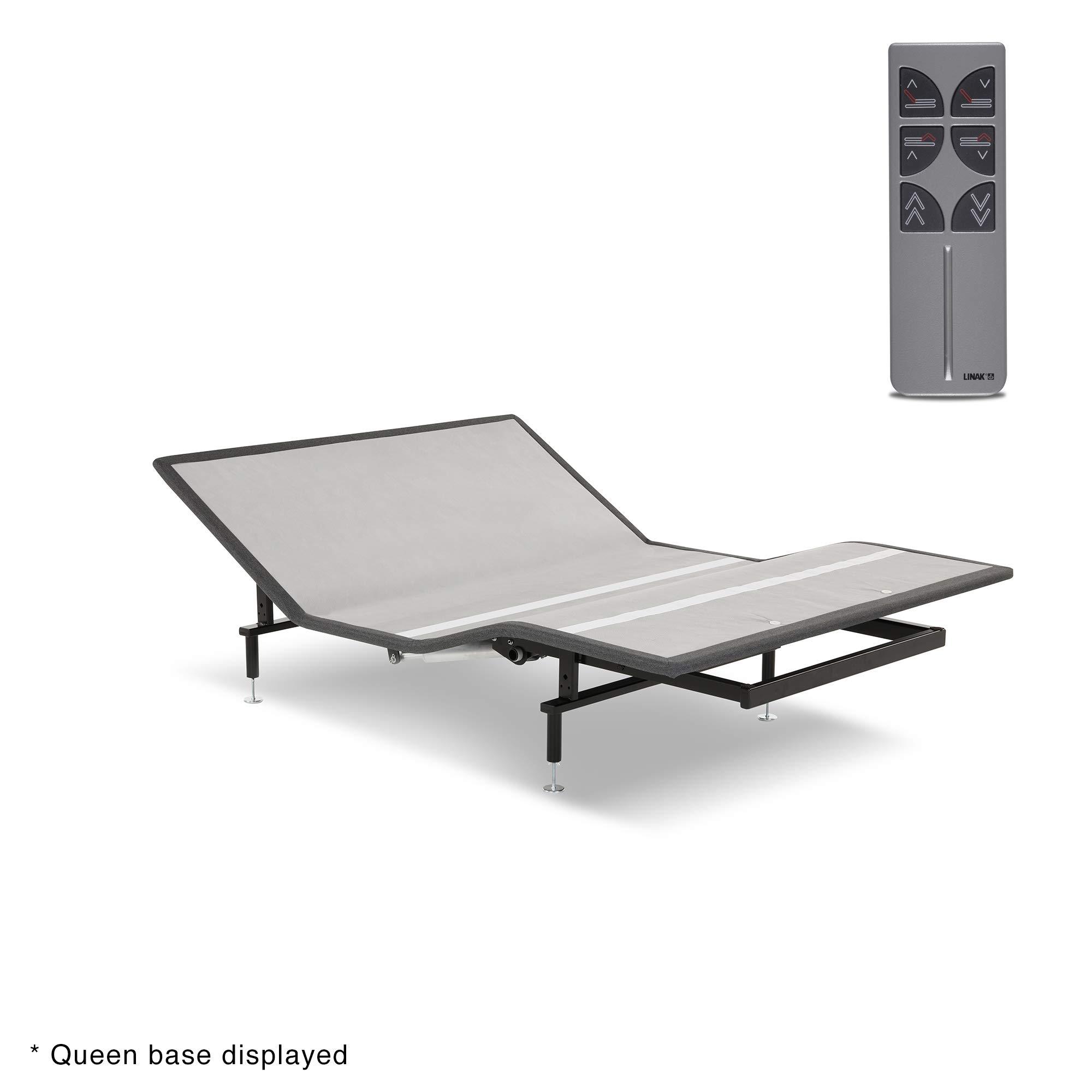 Leggett & Platt Sunrise Slim-Profile Adjustable Bed Base for Platform Beds with Wireless Remote, Charcoal Gray, Twin XL
