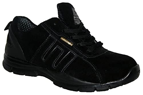 LADIES LIGHTWEIGHT LEATHER UPPERS, STEEL TOE CAP LACE UP SAFETY TRAINER  EXCLUSIVE TO FOOTLOOSE SHOES