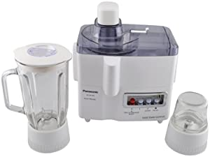 Panasonic MJ-M176P 3-in-1 Juicer/Blender/Grinder Machine, 220 Volts (Not for USA - European Cord)