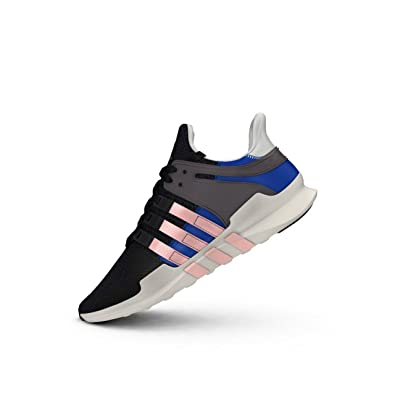 adidas Originals Equipment Support ADV Womens Running Trainers Sneakers (US 6.5, Black Haze Coral