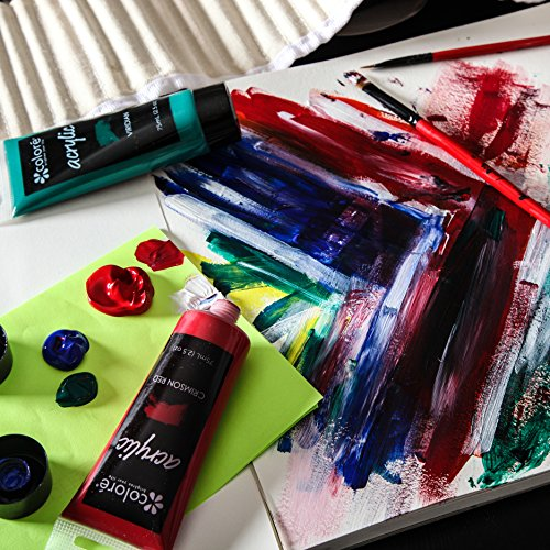 Colore acrylic paint studio set professional grade for Acrylic paint for wood crafts