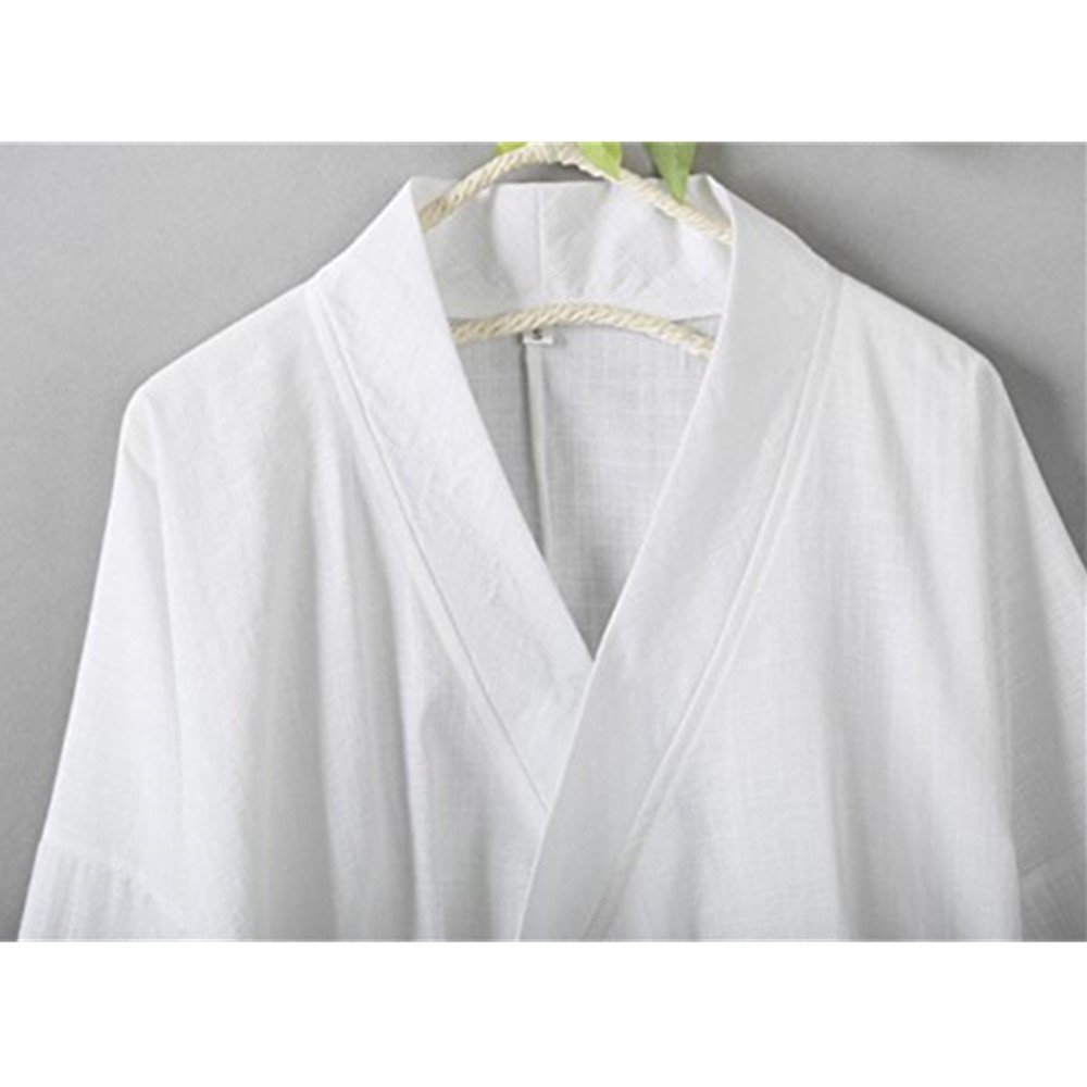 YOUMU Women Chinese Style Traditional Vintage Long Sleeves Cotton Linen Tops Blouse (White, S(US XS)) by YOUMU (Image #3)