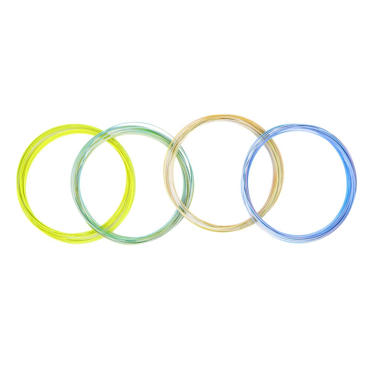 Winterworm 4 Pcs 3D Multi Color Flow Rings Stainless Steel Magic Kinetic Spring Toy Science Educational Sensory Interactive Toys