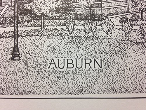 Auburn Samford Hall pen and ink 11''x14'' print by Campus Scenes (Image #3)