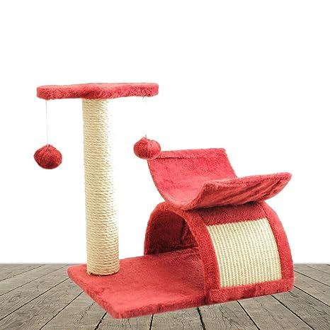 AQPET - Rascador de 45 cm para gatos, árbol con tronco y parque de juegos