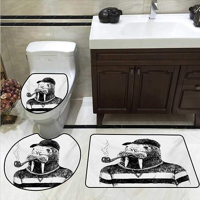 Anshesix - Alfombrilla de baño con Tapa para Inodoro, diseño a ...