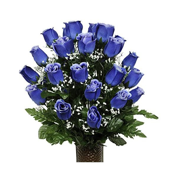 Blue-Rose-Artificial-Bouquet-featuring-the-Stay-In-The-Vase-Designc-Flower-Holder-MD1010