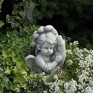 Massive piedra–Figura de ángel en mano de piedra a las heladas habitación Decorar Grab